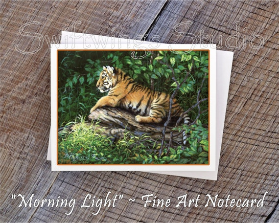 Wildlife Note Cards - Tiger Cub Note Cards - Animal Note Cards - Tiger Print - Wildlife Art - Animal Art - Tiger Cub - Wildlife Stationary