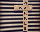 Twat Waffle Scrabble Tile Photography Stripes Funny Gift for Friends