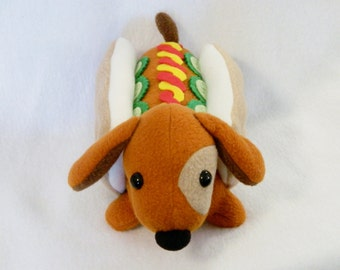 Stuffed wiener dog pickles dachshund plush animal