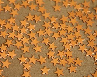 24 pc. Tiny Raw  Copper Stars: 7mm by 7mm - made in USA | RB-285
