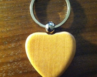 HEART Key Ring - Maple