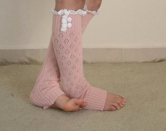 BS5409-Babby girl leg warmers-Pink knit lace kids leg warmers-Knit girl leg warmers-Toddler leg warmers-Girl socks-CHOOSE YOUR COLOR !!!