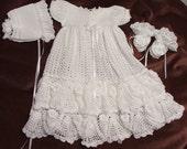 Christening / Blessing Dress, Bonnet & Booties