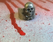 Adjustable Metal Skull Ring