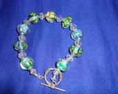 Chunky Blue, Green and Rose Bracelet (Item B1)