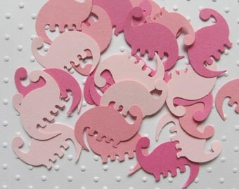 Set of 100 Mixed Pink Dinosaur  confetti -Paper Punches Die
