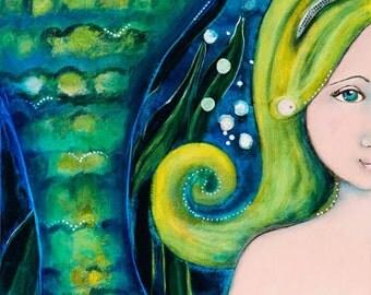 Mermaid Art Print, by Gator Girl