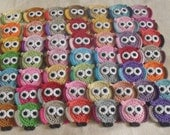 Mixed Lot of Crocheted Owl Appliques 10 Pieces embellisments