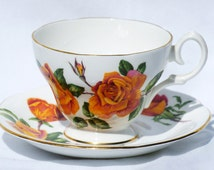 Vintage Queen Anne Bone China Teacup and Saucer
