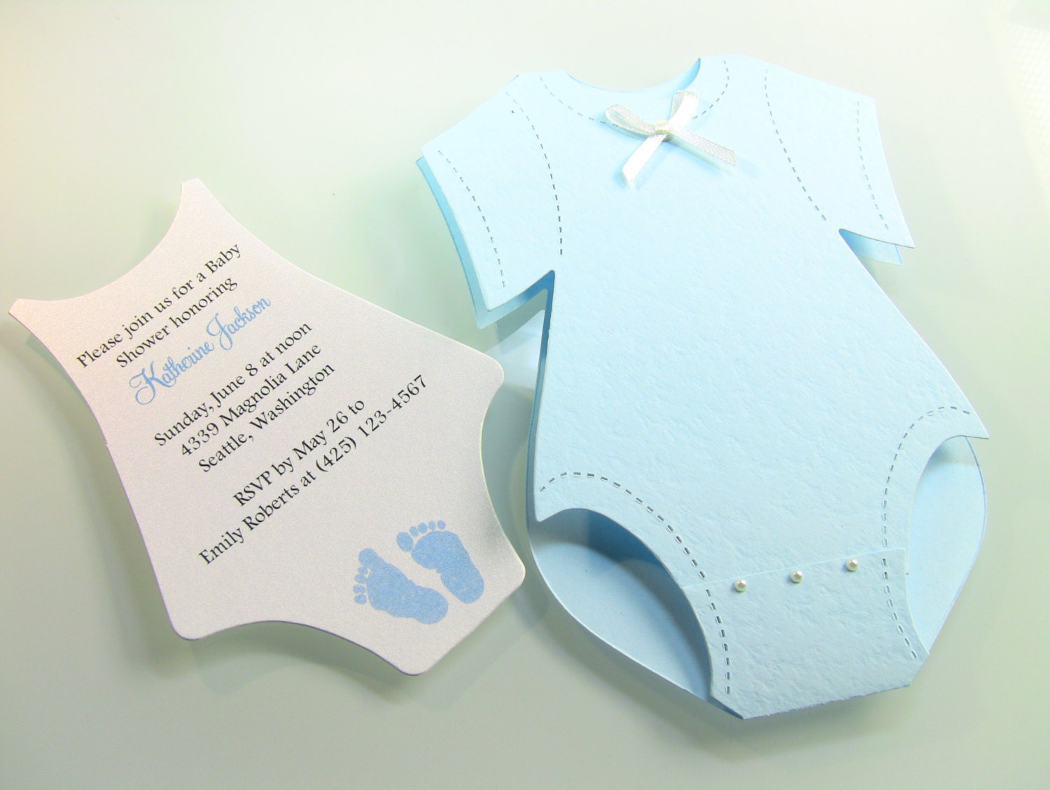 customize any color  onesie baby shower invitation by zucards, Baby shower