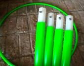 "SALE! Last one! Four Piece HDPE Travel Hula Hoop - 32"" diameter Green"