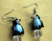 Oh Hello Penguin Earrings CLEARANCE