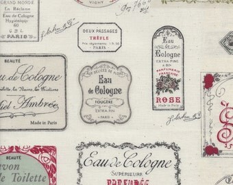 Eau de Cologne Labels in Natural from the Live Life Collection by Yuwa of Japan