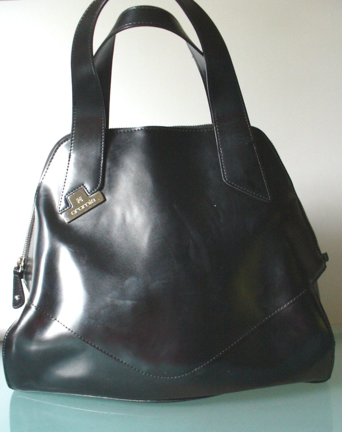 Crosia Handbags : Made in Italy Large Cromia Bowling Bag Style by EurotrashItaly