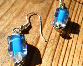 Sterling Silver Sky Blue Earrings