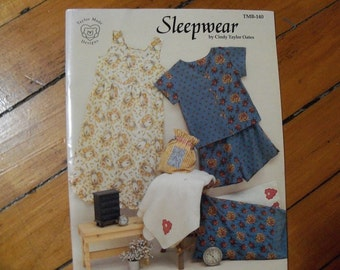 Sleepwear Pattern by Cindy Oates,Nightgown,Boxer Shorts Pattern - FREE SHIPPING