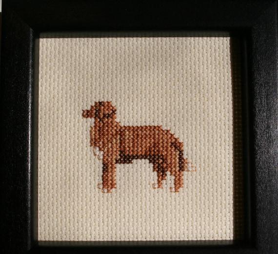 Nova Scotia Duck Tolling Retriever Cross Stitched Full Body Dog.