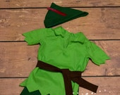 Peter Pan costume and/or shadow inspired costume for 12 month to size 8 boys or girls brothers costume