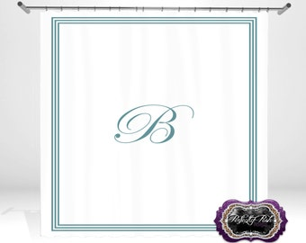 Initial Personalized Custom Shower Curtain Monogram with Name or Initials perfect for any bathroom