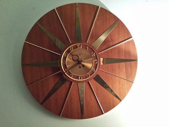 Starburst Wall Clock 8 Day Movement By By Trippedoutatomic
