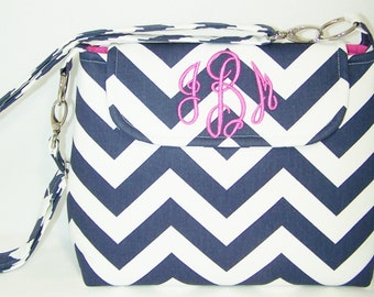 Monogrammed Chevron Purse in Choice of Colors