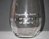 Longitude Latitude Location stemless wine glass