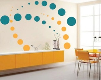 contemporary dots wall decals modern home decals unique wall sticker cool wall mural decals contemporary wall designs unique walls d96 - Designer Wall Stickers