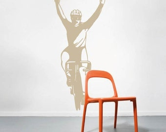 Cyclist Wall Art Decal, Cyclist Wall Sticker, Cyclist Wall Decor, Cyclist Wall Decal, Cyclist Wall Murals, Bicycle Wall Decal, Cyclist, s01