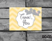 Mickey And Minnie Disney Baby Shower Thank You Card