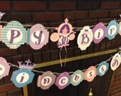 Royal PRINCESS birthday banner crown tiara royal ball first 1st birthday