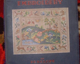 Tradtional Embroidery Penelope Royal School of Needlework vintage 50's book