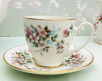 "Sale*****Royal Grafton ""Summer Melody"" Demi Tasse Cup and Saucer"