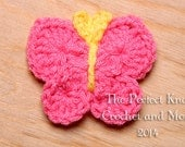 PDF Crochet Pattern File - Bitsy Butterfly Applique Pattern