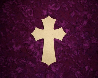 """Wood Cross Unfinished Wooden Crosses 7"""" Inch Tall MDF Crafts Part C07-038"""