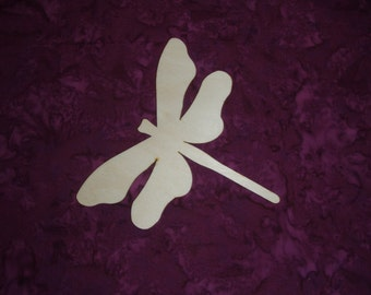 Dragonfly Shape Wood Cut Out Unfinished Wooden Animal Shapes