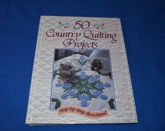 ON SALE  Book- 50 Country Quilting Projects