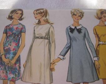 Simplicity 7748 dress pattern, aline dress pattern, shift dress, size 8, bust 31.5