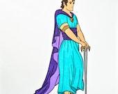 Bible Character Drawing: King David