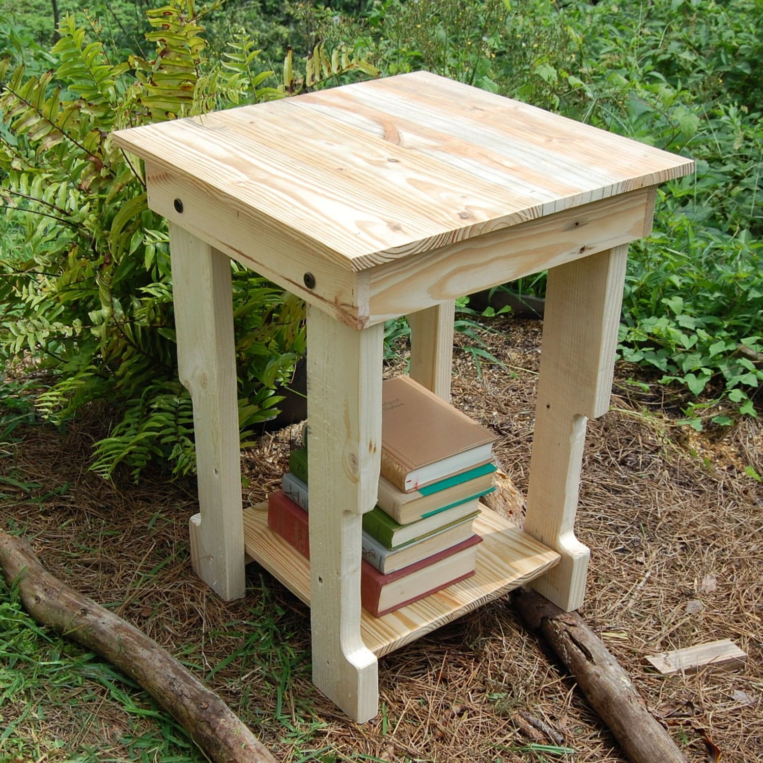 End table side table pallet reclaim wood nightstand for End tables out of pallets