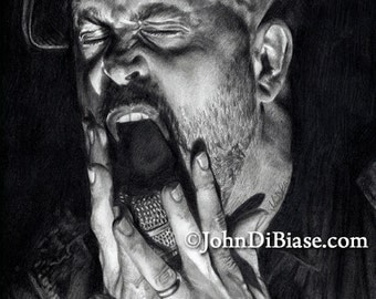 Drawing Print of Andrew Schwab of Project 86 (LAST CALL - Listing Ends Oct. 11, 2017)