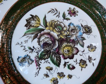 Rare Pattern Wood & Sons Ascot Plate   Enoch Woods Collector Plate