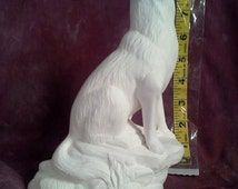 """Doc Holiday Wolf Incense smoker ready to paint 8"""" ceramic bisque"""
