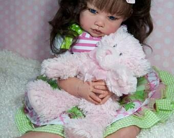 Custom Ella Mae by Jannie De Lange Reborn Realistic Toddler