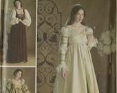 Gowns, Sleeves, Cap & Veil Renaissance Costume Collection Simplicity Pattern 3812 Uncut Sizes 4-6-8, 10-12-14