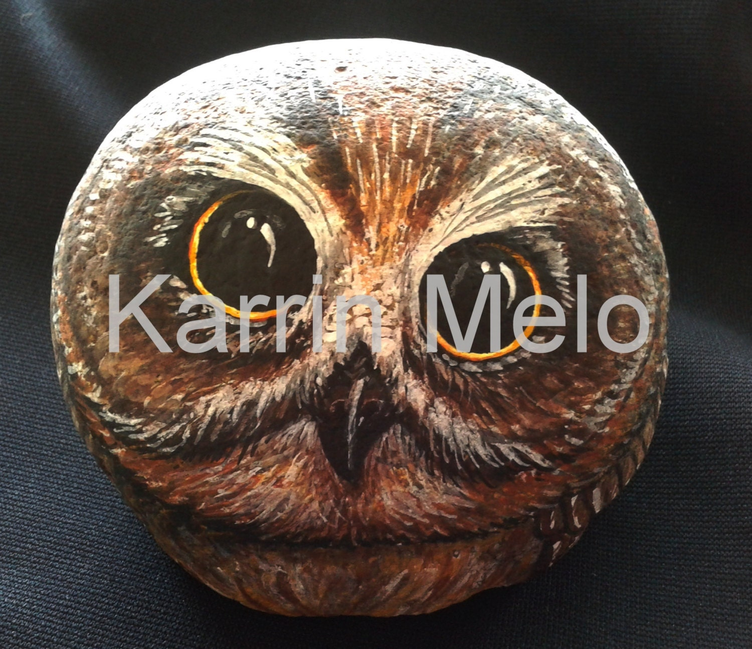 Owl lawn ornaments - Painted Rock Painted Stone Owl Garden Art Yard Decor Home Decor