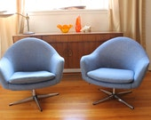 Pair Vintage Overman Pod Chair , to be done in color Tang