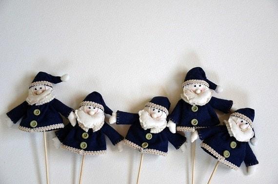 Christmas Decorative Fabric Santa