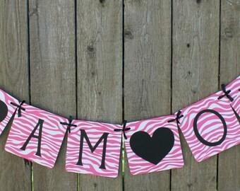I AM ONE banner (1st birthday, party decoration, photo prop, birthday decor, garland, sign) - Pink Zebra
