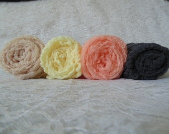 Set Of 4 Hand Dyed Photogrophy  Cheesecloth Wraps... Baby Photo Wraps..  Newborn wraps..Photo Props