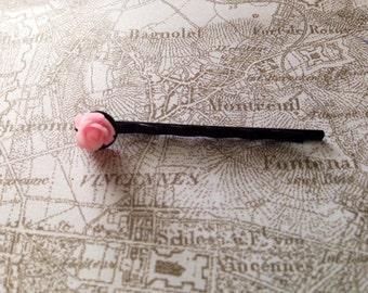 Carnation Pink Bud Hair Pin